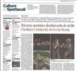 corriere del Veneto 31-7-2018